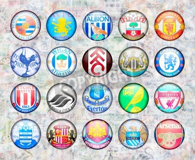 Poster English Premier League Football Teams 2012/13