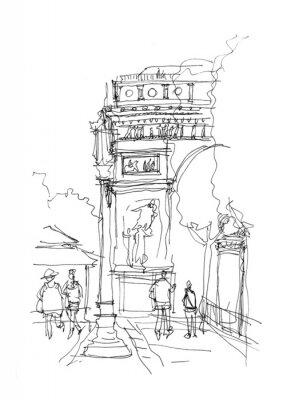 Poster Esboço Arc de Triomphe