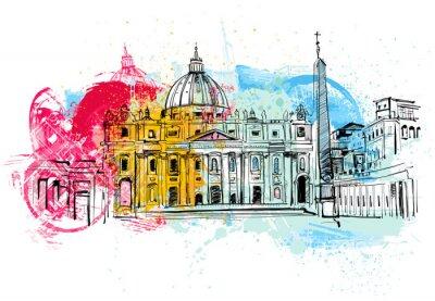 Poster Esboço do Vaticano