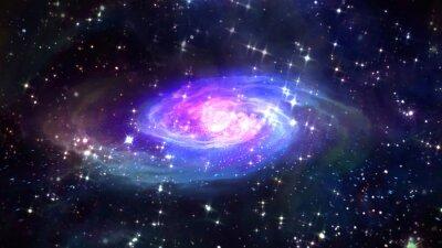 Poster Espaço galáxia azul no espaço.