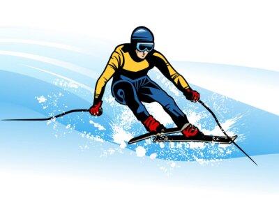 Poster esporte de inverno