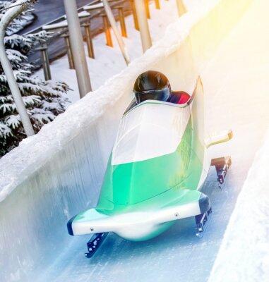 Poster Esportes de inverno - Bobsleigh na pista