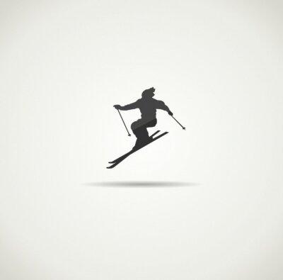 Poster esquiador