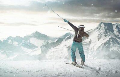 Poster Esquiador feliz