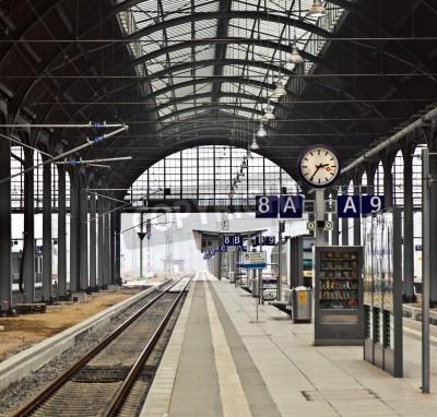 Poster estação ferroviária Classicistical em Wiesbaden, Alemanha