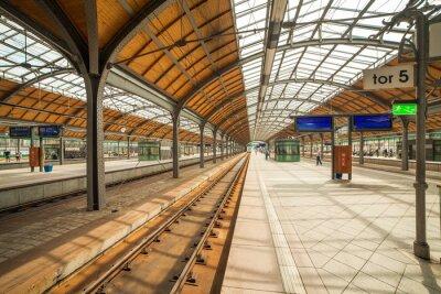 Poster estação ferroviária Wroclaw