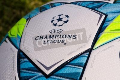 Poster Este é o Bola escritório Jogado na partida final entre Bayern de Munique e Chelsea