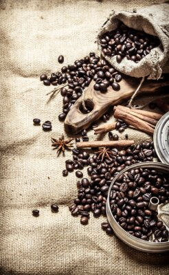 Poster Estilo de café velho.