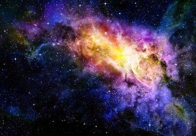 Poster estrelado profundo Nebual espaço e galáxia
