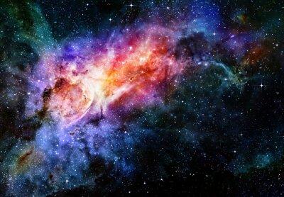 Poster estrelado profundo nebulosa espaço e galáxia