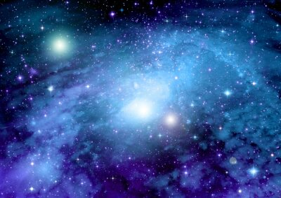 Poster Estrelas, poeira e nebulosa de gás