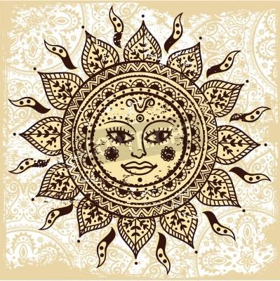 Poster Ethnic sol ornamental
