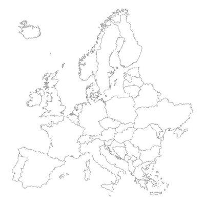 Poster Europa em Weiß - Vektor (hoher Detailgrad)