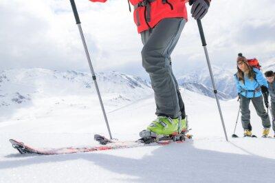 Poster Excursão do esqui em movimento