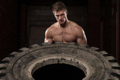 Poster Exercício de treino de pneus