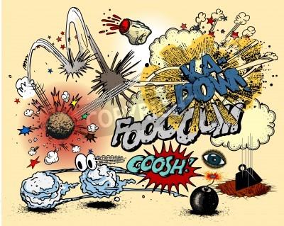 Poster Explosão da banda desenhada