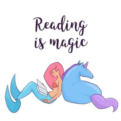 Poster Fairy ilustração vetorial isolada.