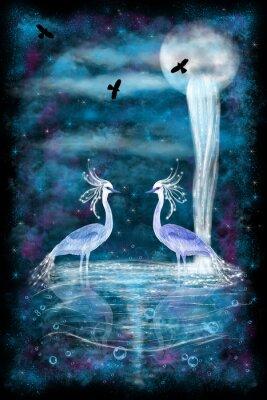 Poster Fantasia duas garças