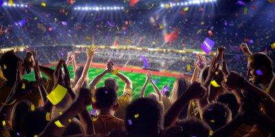 Poster Fãs no jogo stadium panorama vista