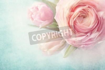 Poster Flores cor de rosa em um vaso