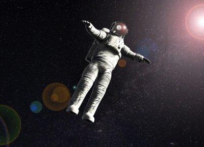 Poster Flutuante, astronauta, espaço, sol