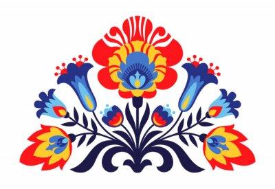 Poster Folk polonês flores inspiradas