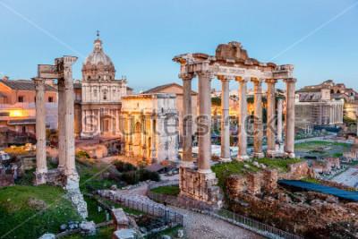 Poster Fórum Romano em Roma