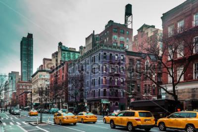 Poster Foto de edifícios e ruas do Upper West Site de Manhattan, New York City