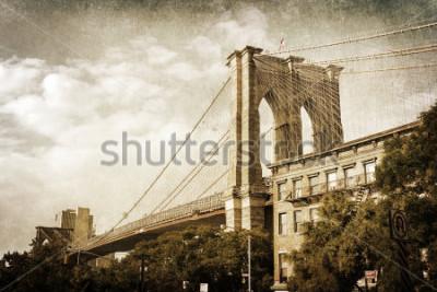 Poster Fotos da vindima da ponte de Brooklyn em Nova York