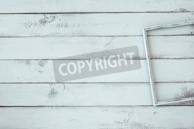 Poster Frame de madeira da foto em mint fundo chique gasto
