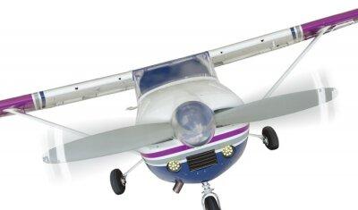 Poster Frente, Cessna, 172, único, hélice, avião, branca
