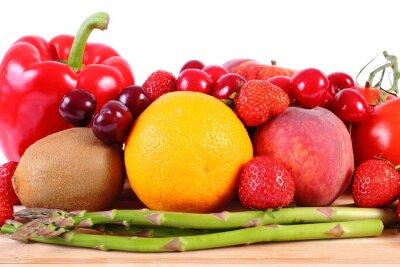 Poster Frutas e vegetais frescos, nutrição saudável