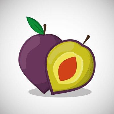 Poster Frutas ícone design