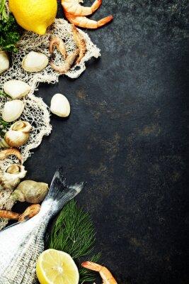 Poster Frutos do mar frescos