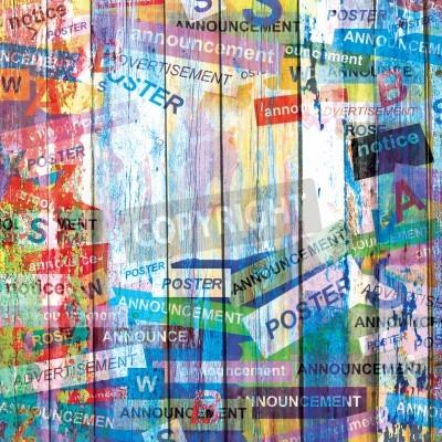 Poster Fundo abstrato do grunge