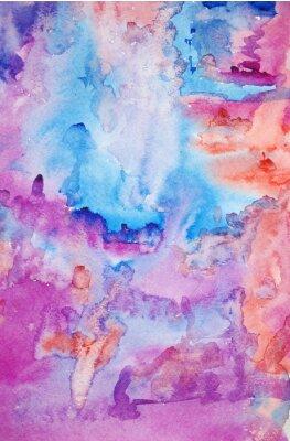Poster Fundo arte mão da aguarela pintada por scrapbooking
