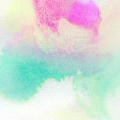 Poster Fundo colorido abstrato da aguarela pintada