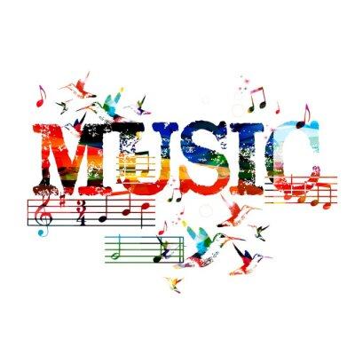 Poster Fundo colorido da música