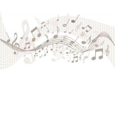 Poster Fundo com notas musicais