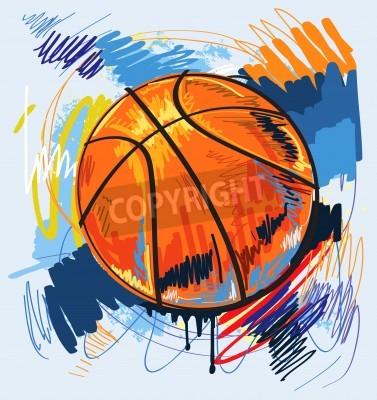 Poster Fundo da cor do projeto do basquetebol