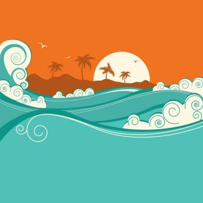 Poster Fundo do mar ilustração vetorial