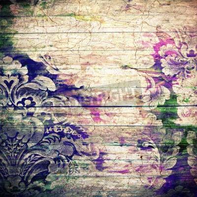 Poster Fundo velho abstrato com textura do grunge. Para textura arte, design do grunge, e do papel do vintage ou frame border