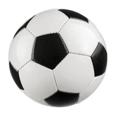 Poster Fußball auf Weiss reinem
