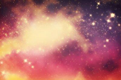 Poster Galaxy com estrelas e espaço universo de fantasia.