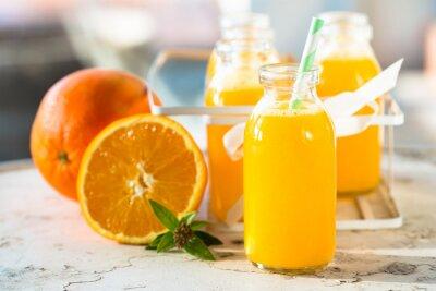 Poster Garrafa de suco de laranja