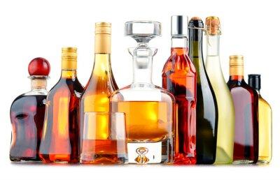 Poster Garrafas de bebidas alcoólicas assorted