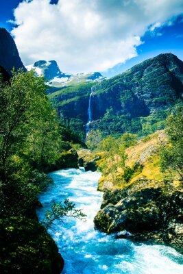 Poster Geleiras eternas e montanhas.