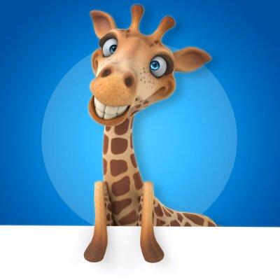Poster Girafa divertida