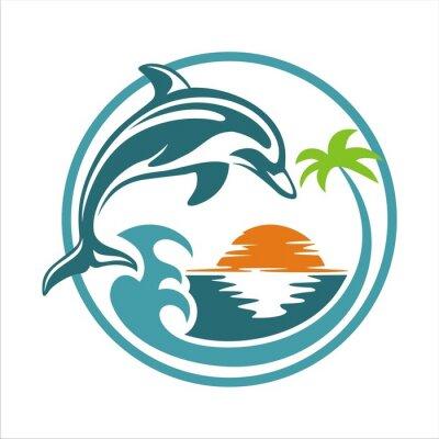 Poster Golfinho na praia