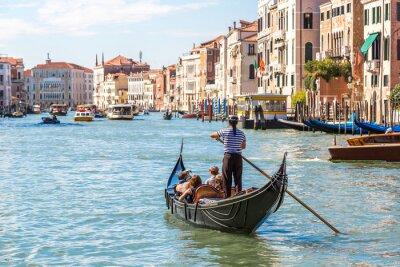 Poster Gôndola, canal, grandioso, veneza